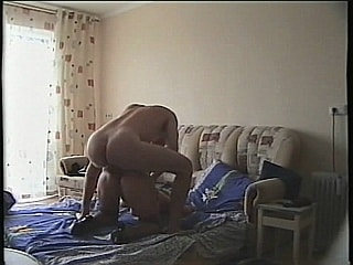 Horny lady rides huge cock