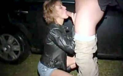 Dogging Wife Goes Wild – Sucking Many Cocks and Fucking Them All