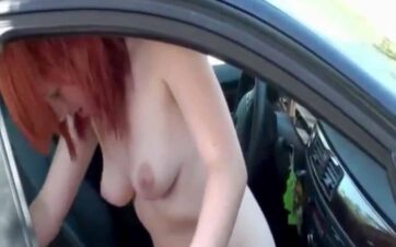 Couple Caught Fucking in Front Seat of Car in the Middle of the Day
