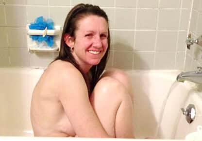 cute wife in the Bath Tub