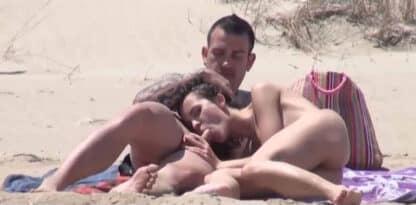 Sucking cock on the nude beach