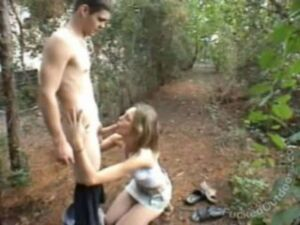 Freshly Fucked – Naked Young Couple Caught Fucking on the Trail in the Woods