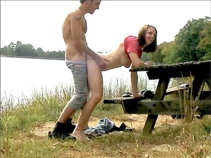 caught fucking on a picnic table in public park