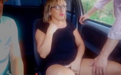 1st Time Dogging Wife Looks to Husband for Approval as She Sucks and Fucks a Stranger